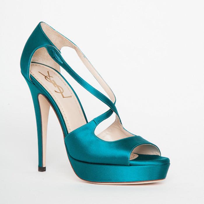 3716b93ef426 Home   SHOES   Sandals   YSL Teal Platform Sandals   39
