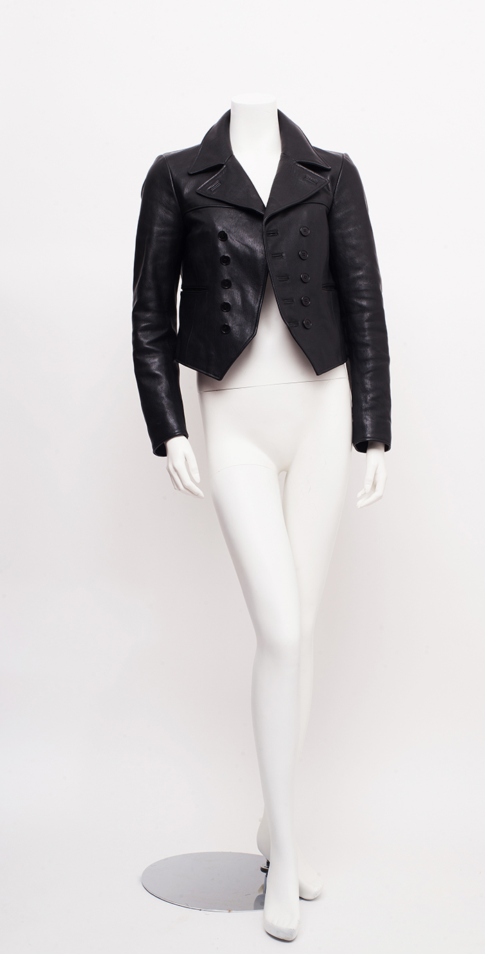 241590955a4 Home / Jackets / Leather / Saint Laurent Black Leather Double Breasted  Jacket / 38 / S-M