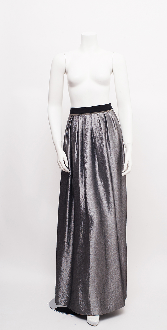 Silver Ball Gown Skirt / M