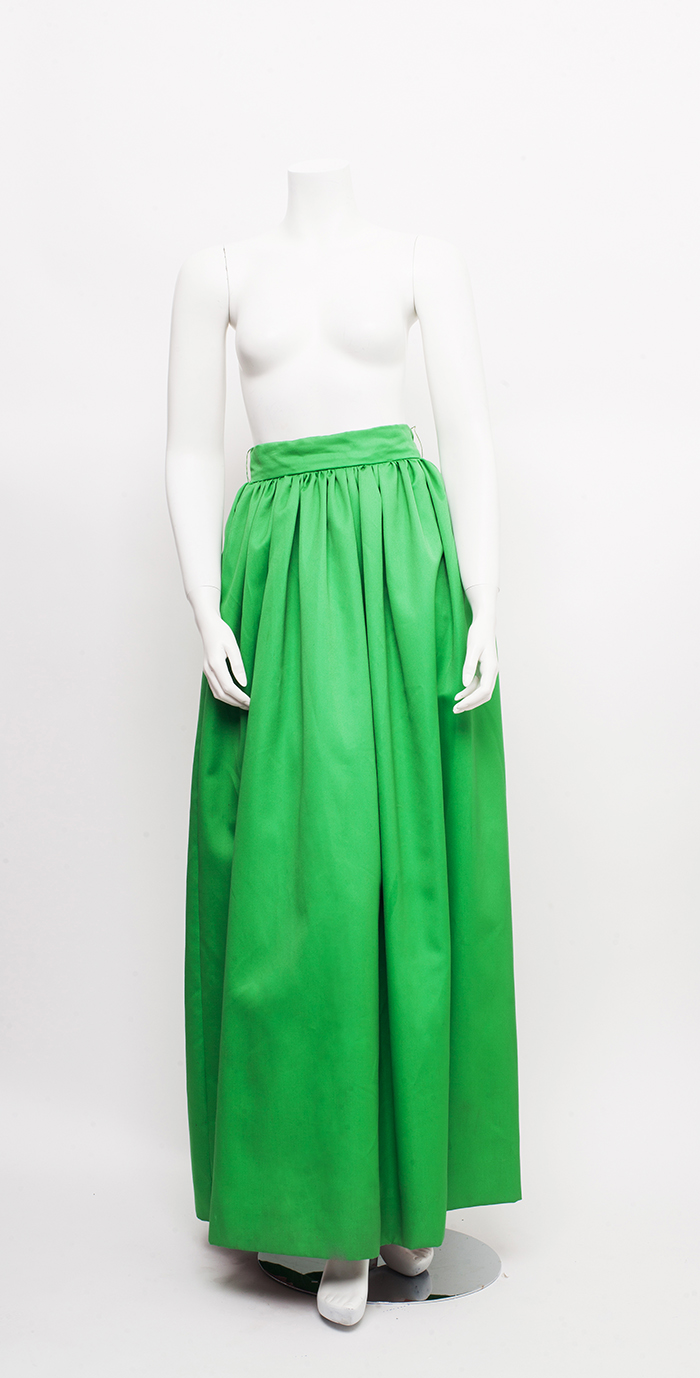 Vintage Lime Green Fun Ball Gown Skirt / XS