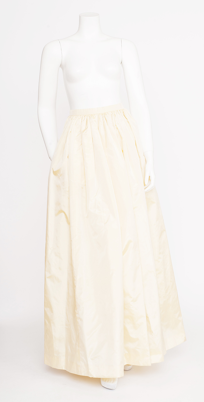 Oscar de la Renta Cream ball Gown Skirt / 2-4
