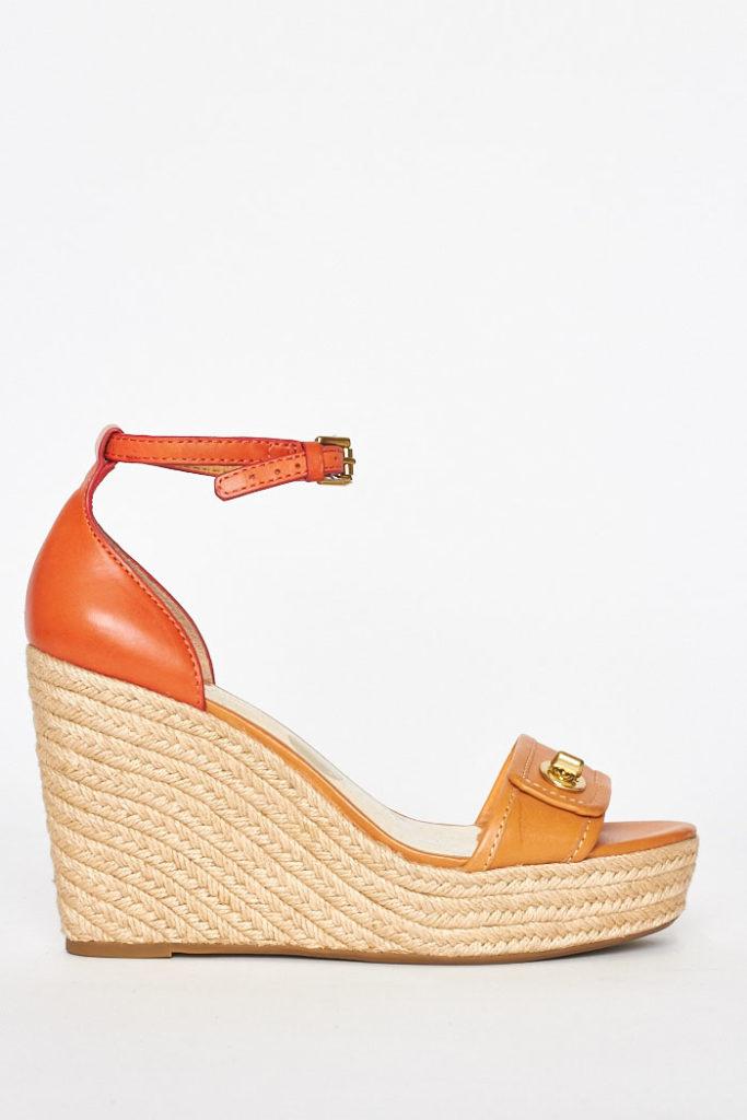 2d1b5b8fdbe2 Home   SHOES   Sandals   Coach Wedge Sandals   39