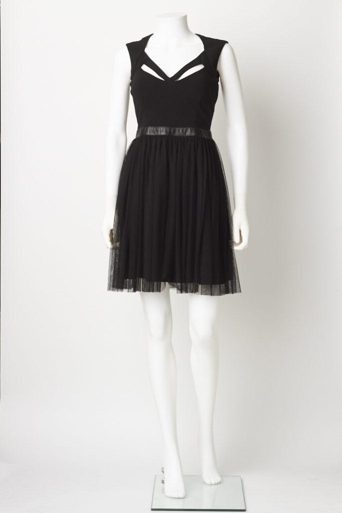 Nicole Miller Strappy Little Black Dress M